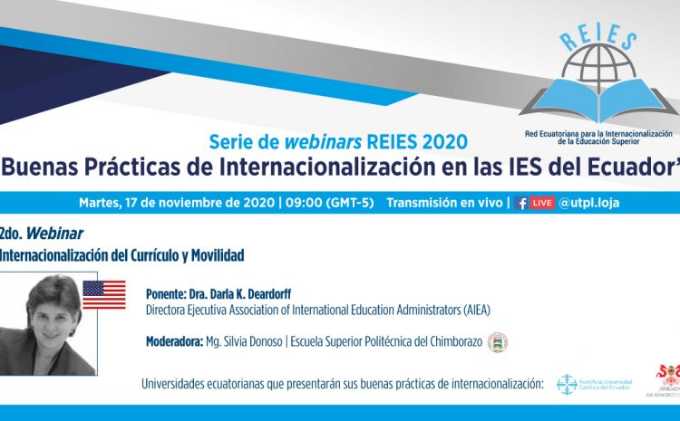 "2do Webinar: ""Internacionalización del currículo y movilidad"""